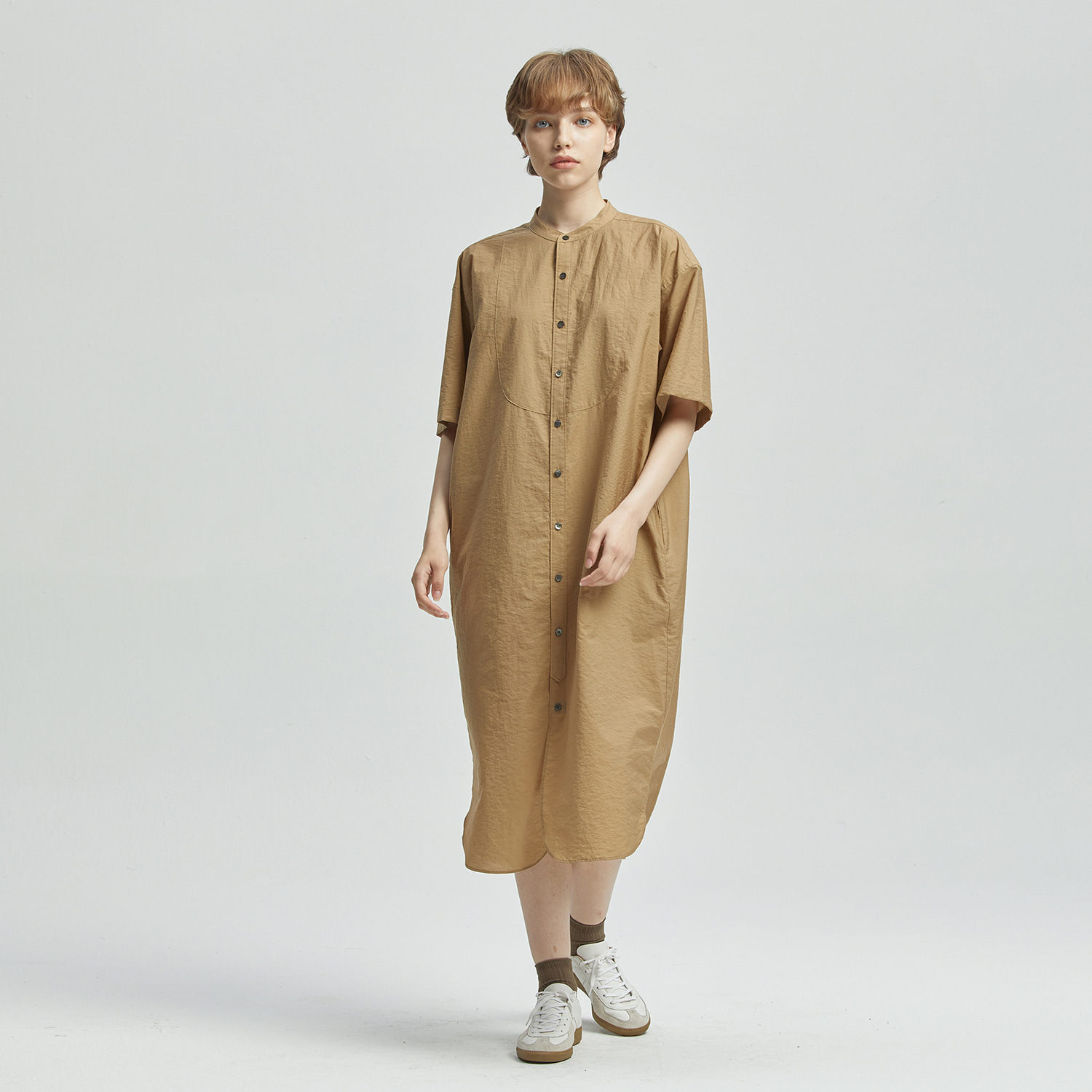 Editor Shirtdress (Tan)